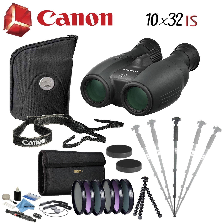 Canon双眼バンドル B07CRJWZM5 10x32 IS Image Stabilized Binocular|Advanced Bundle Advanced Bundle 10x32 IS Image Stabilized Binocular
