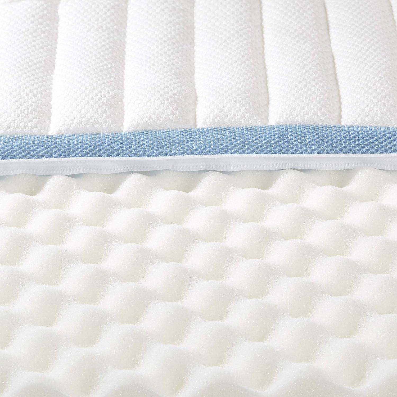 160 x 190 cm Basics 7-Zone-Air-Memory-Foam-Mattress-Topper