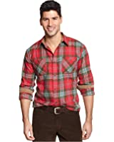 Weatherproof Men's Vintage Plaid Flannel Shirt