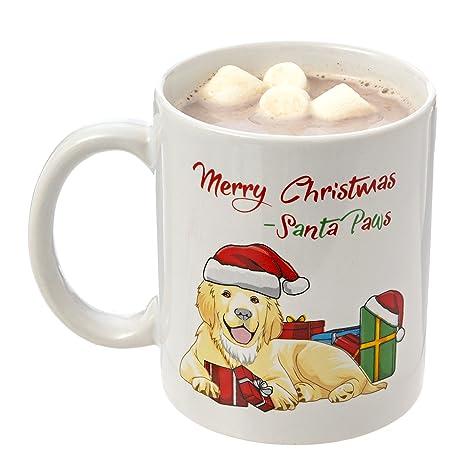 golden retriever santa paws merry christmas mug 11oz coffee mug perfect holiday mug christmas