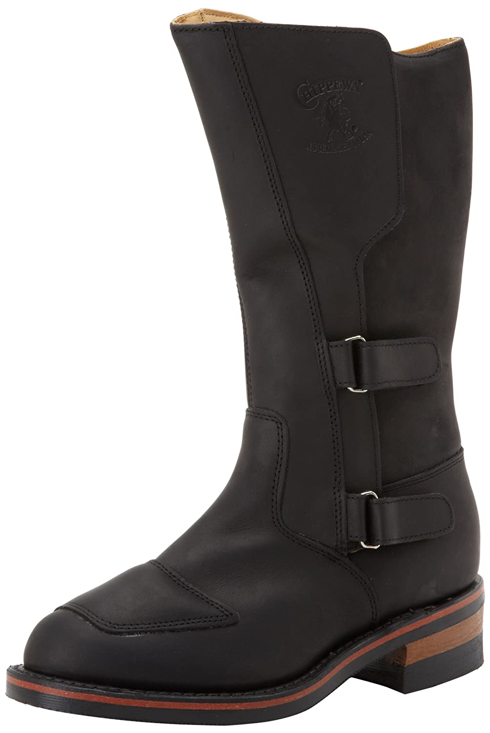 Men's Black Leather 12-inch Rally Boots