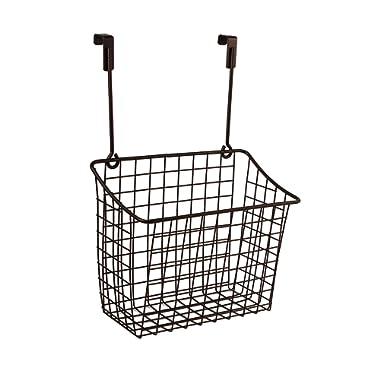 Spectrum Diversified 56324, Over the Cabinet Grid Storage Basket, Large, Bronze
