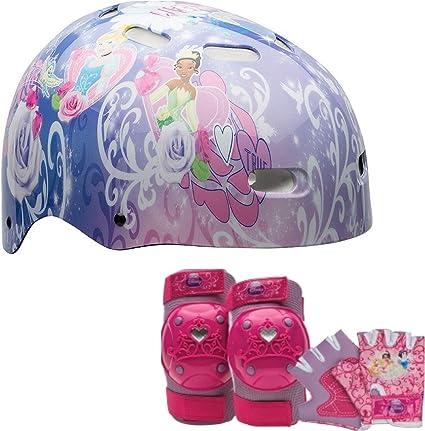 Hello Kitty Kids Skate//Bike Helmet Pads /& Gloves 7 Piece Set Bell Sports