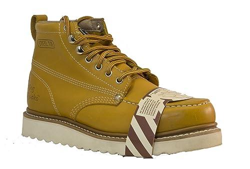 Golden Fox Punta de Acero Botas de Trabajo Ligero Hombres Moc Toe Boot Aislante: Amazon.es: Zapatos y complementos