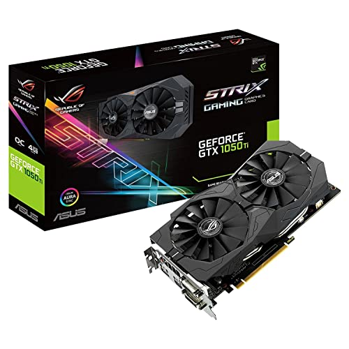 ASUS STRIX GTX1050TI O4G GAMING Tarjeta gráfica NVIDIA GeForce GTX 1050 Ti 4 GB GDDR5 7680 x 4320 Pixeles GDDR5 PCI Express 3 0 Color Negro
