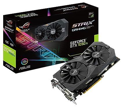 ASUS STRIX-GTX1050TI-O4G-GAMING - Tarjeta gráfica (NVIDIA, GeForce GTX 1050 Ti, 4 GB GDDR5, 7680 x 4320 Pixeles, GDDR5, PCI Express 3.0) Color Negro