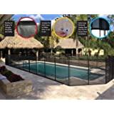 WaterWarden WWF300 5 foot in-Ground Pool Fence, Black
