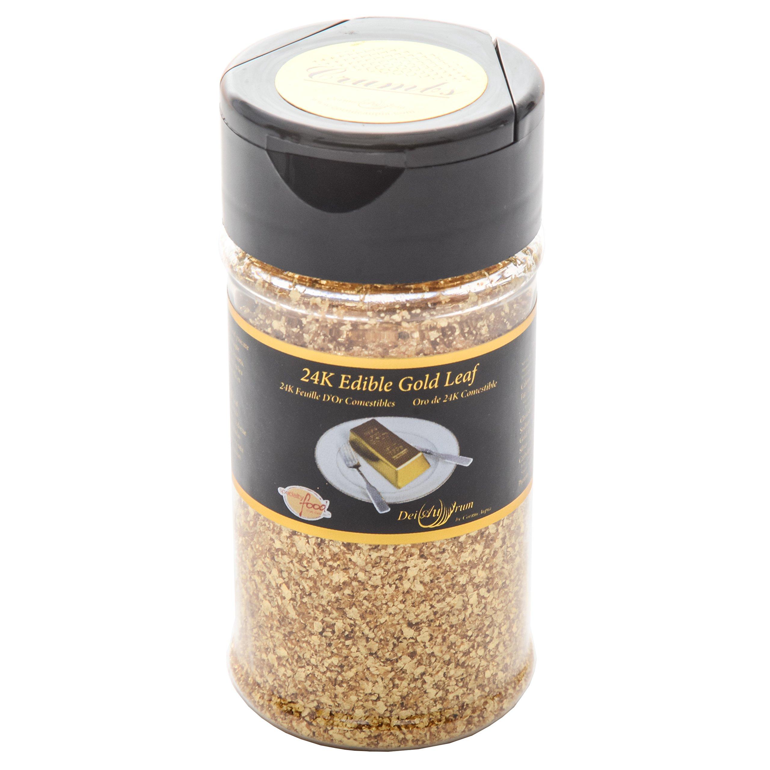 24K Edible Gold Leaf Crumbs, Shaker, 0.500g