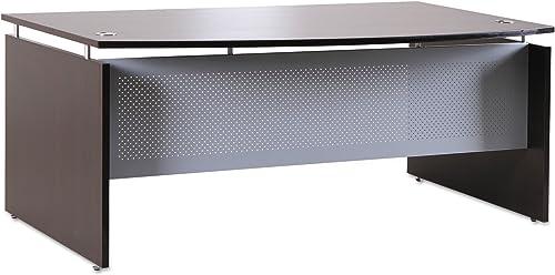 Alera ALE Sedina Series Bow Front Desk Shell, 72w x 42d x 29 1 2h, Espresso