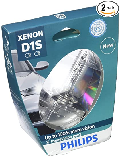 5b5433127dc Image Unavailable. Image not available for. Color: PHILIPS Xenon X-TremeVision  Gen2 +150% D1S HID Xenon Bulbs ...