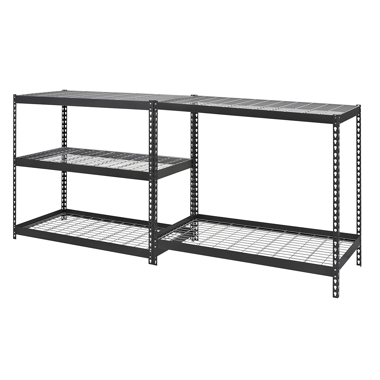 Edsal 5 shelf heavy duty steel shelving - Edsal Mrop3618w5b Steel Storage Rack 5 Adjustable Shelves 5000 Lb Capacity 72 Height X 36 Width X 18 Depth Black Amazon Com Industrial