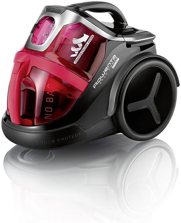 Rowenta Ergo Force Aspirador, filtro HEPA 13, 700 W, 79 Decibelios, plástico, acero, Rojo: Amazon.es: Hogar