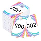 Amazon Price History for:Live Sale Plastic Tags, Normal and Reverse Mirror Image Numbers, Reusable Hanger Cards, 100 Consecutive Numbers, (001-100)