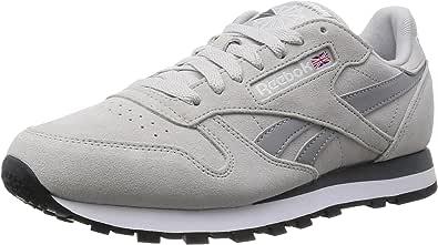 ReebokClassic Leather Suede - Zapatillas de Running Hombre, Color Beige, Talla 41: Amazon.es: Zapatos y complementos