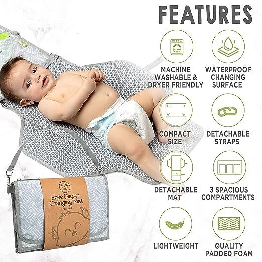 Bear Lavable y no desti/ñe f/ácil de Instalar, DAUERHAFT Cubierta Suave y Transpirable para Cambiador de beb/é