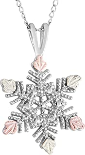 product image for Black Hills Gold on Silver Snowflake Pendant