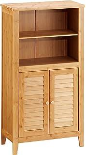 Relaxdays Waschmaschinenschrank LAMELL Bambus, Überschrank ... | {Badschrank bambus 67}