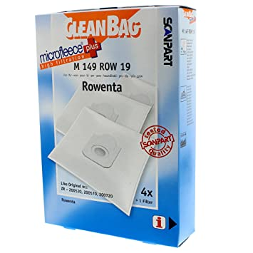 Amazon.com: CleanBag M 149 Row 19 Universal Dust Bag Vacuum ...
