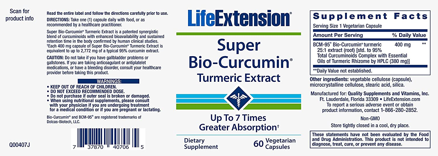 Amazon.com: Life Extension Super Bio Curcumin - Cápsulas de ...