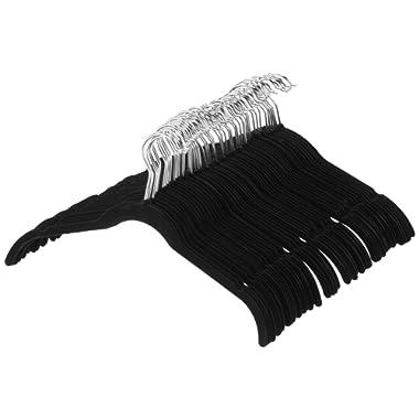 AmazonBasics Velvet Shirt/Dress Hangers - 50-Pack, Black