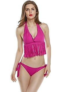 3f972e1ecd LANNORN Femme Hot Sexy Bikini Criss Cross Double Bandage Deux pièces ...