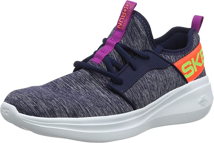 Skechers Womens Go Run Fast Trainers, Blue (Navy Textile/Multi ...