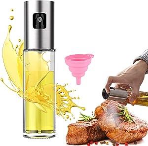 Oil Sprayer for Cooking Misto Olive Oil Sprayer for Cooking Air Fryer Pump Oil Sprayer with Silicone Funnel for Salad Making Baking Roasting BBQ