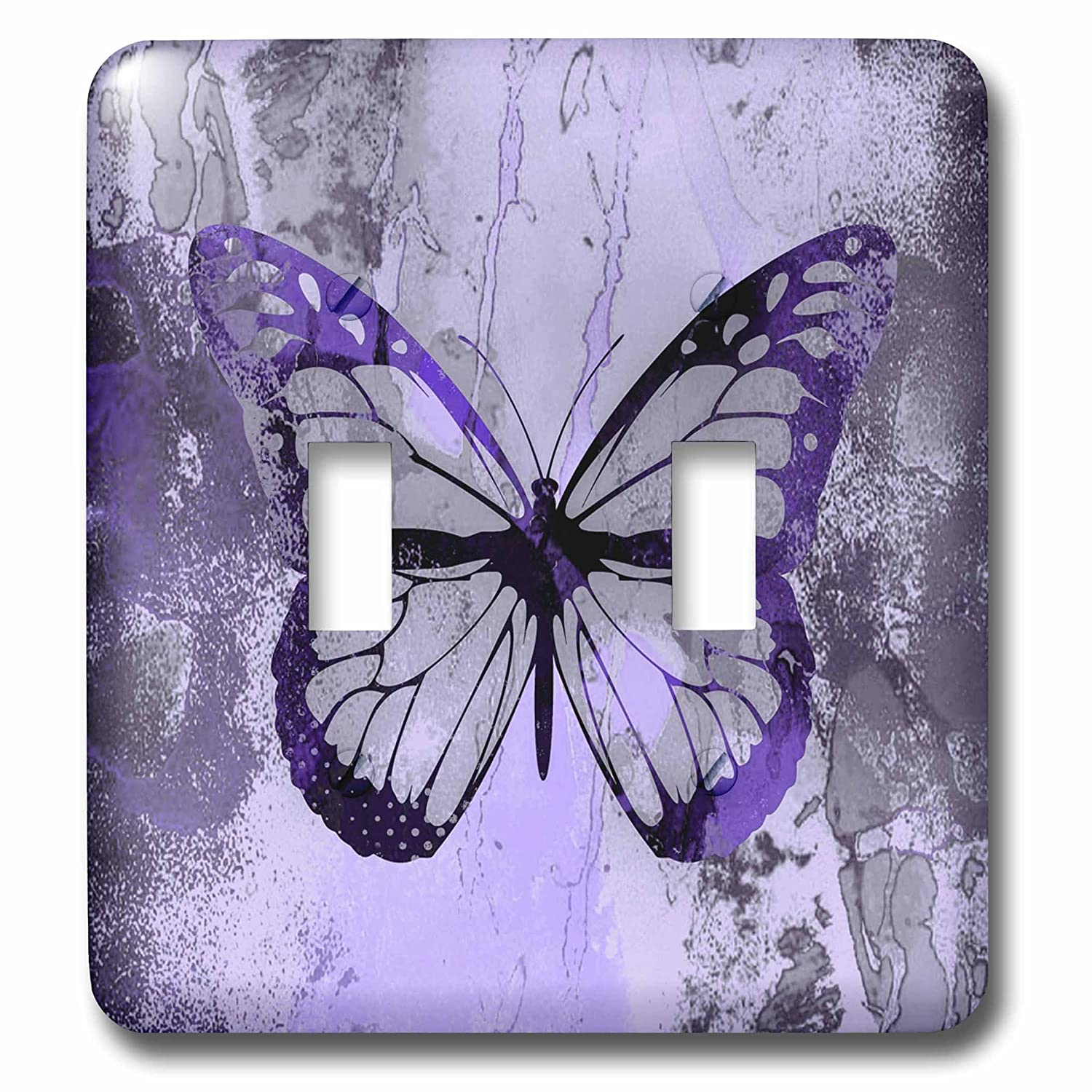 3dRose lsp/_274793/_2 Purple Butterfly Illustration Toggle Switch Mixed