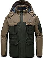 Wantdo Men's Hooded Mountain Waterproof Rain Jacket Outdoor Fleece Windproof Ski Jacket