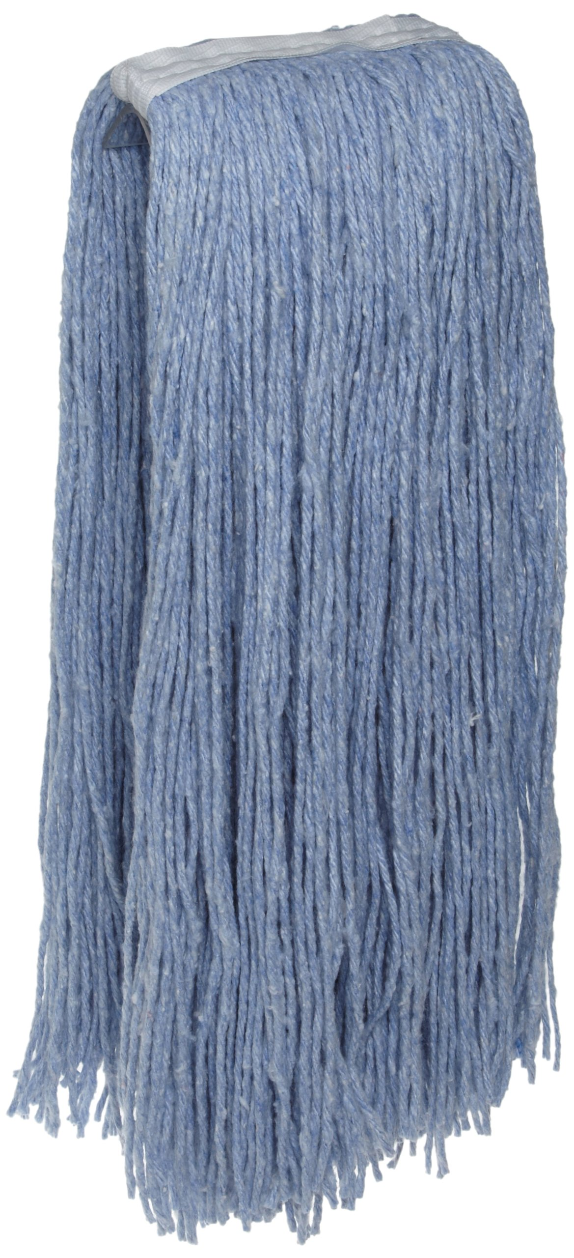 Zephyr 58805 Blue Blend Natural and Synthetic Blend #32 Economy Cut End Mop Head (Pack of 12)