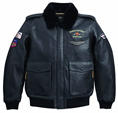 Harley Davidson Lederjacke A 2 Bomber Jacket Military 97078