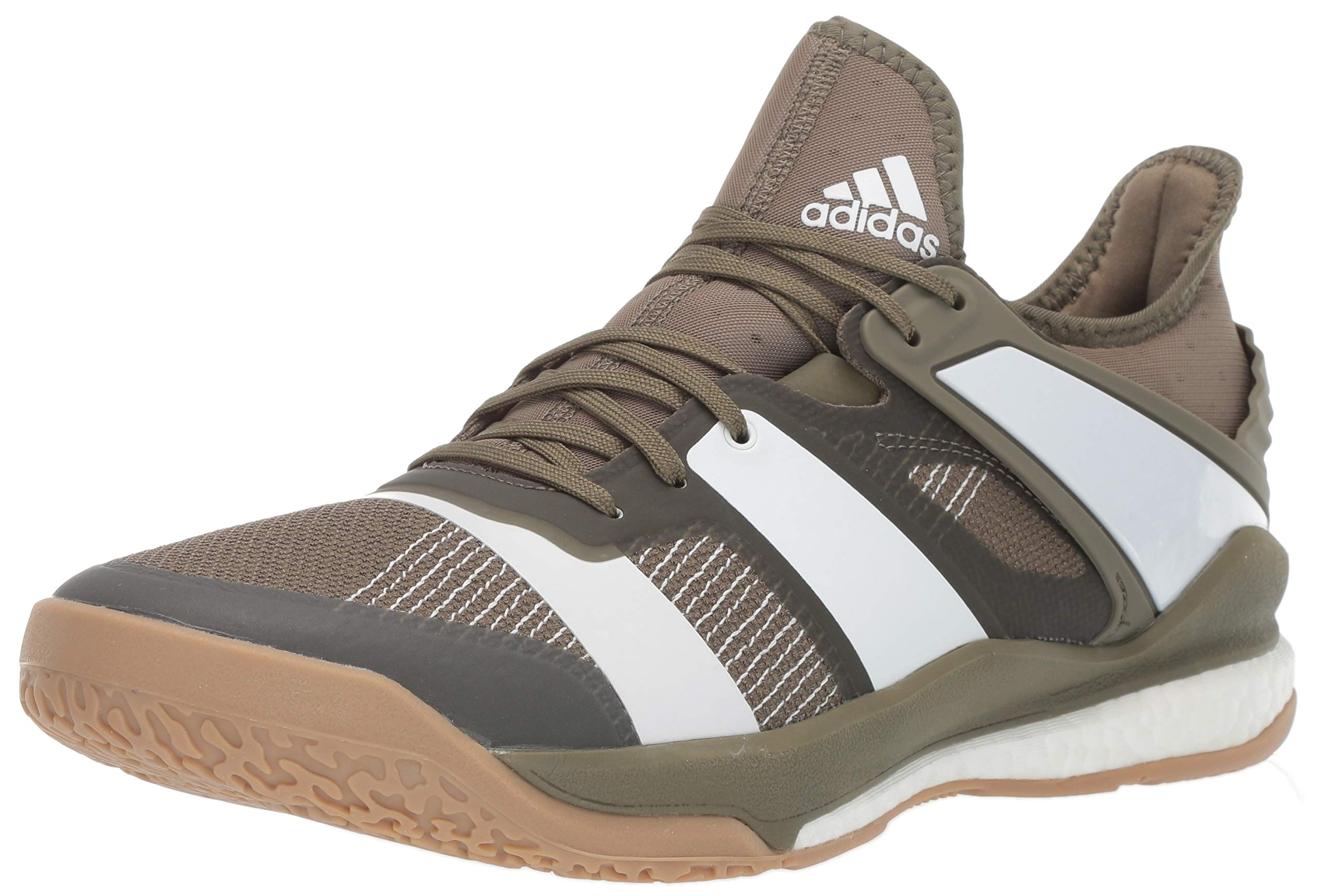 adidas Men's Stabil X, raw Khaki/White/Gum 8.5 M US