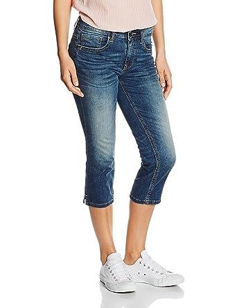 d57d1bf6715be6 Tom Tailor Women's Alexa Capri Jeans, Blue-Blau (Dark Stone wash Denim 1053