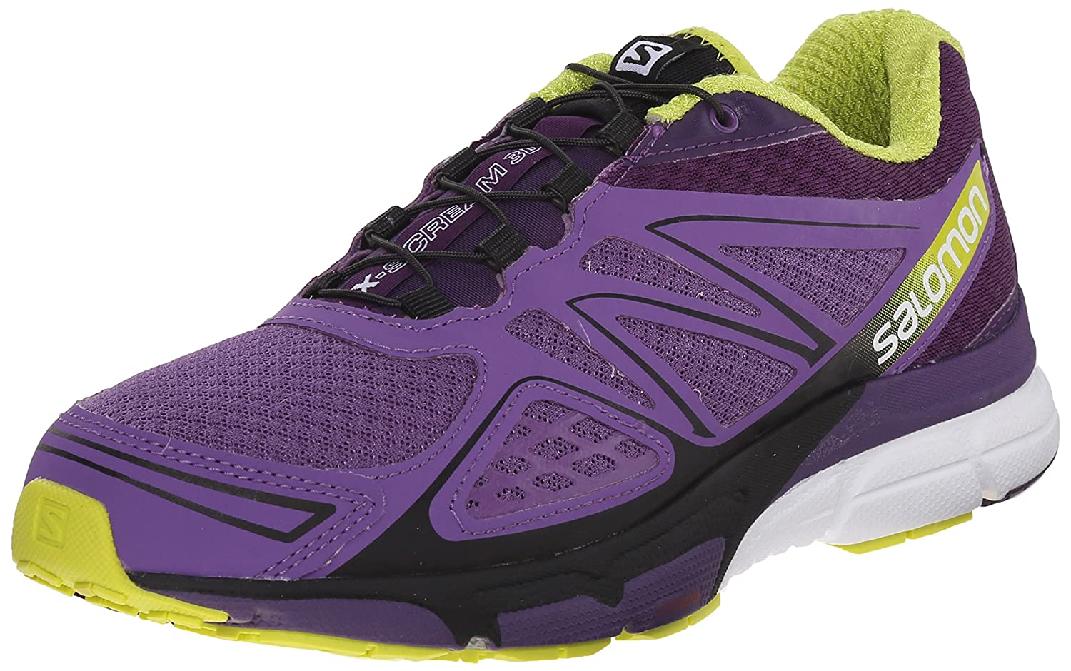 Salomon Women's X-Scream 3D W Trail Running Shoe B00ZLN822E 12 B(M) US|Rain Purple/Cosmic Purple/Gecko Green