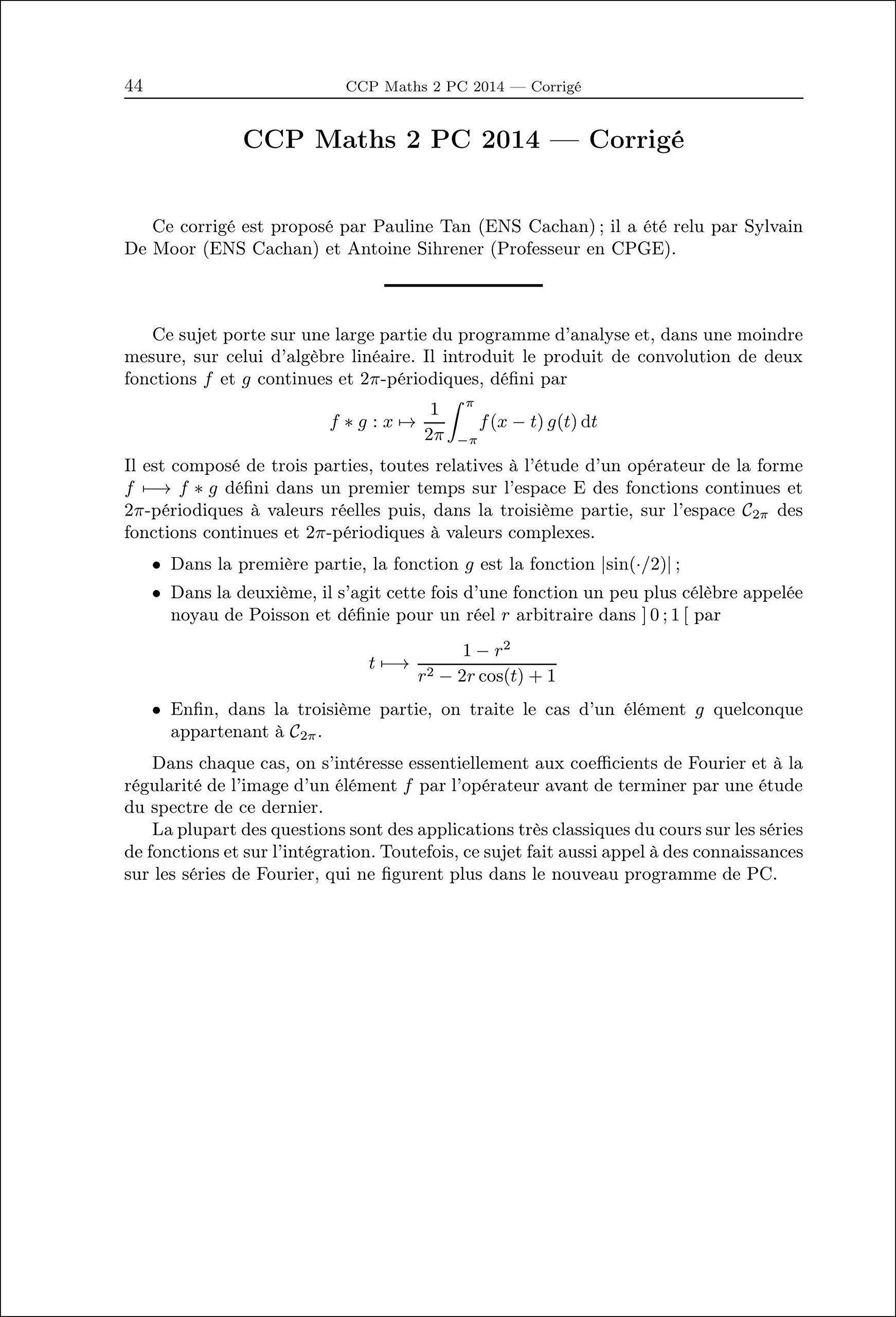Annales des concours 2014 PC mathématiques: 9782351413074: Amazon.com: Books