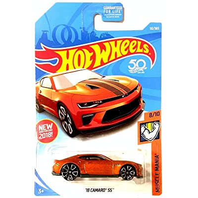 Hot Wheels 2020 50th Anniversary Muscle Mania \'18 Camaro SS 50/365, Orange: Toys & Games [5Bkhe0307087]
