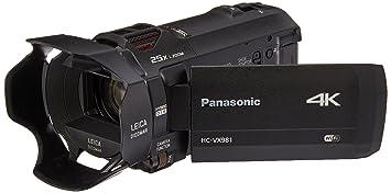 Panasonic 4K Ultra HD Video Camera Camcorder HC-VX981K, 20X Optical Zoom,  1/2 3-Inch BSI Sensor, HDR Capture, Wi-Fi Smartphone Multi Scene Video