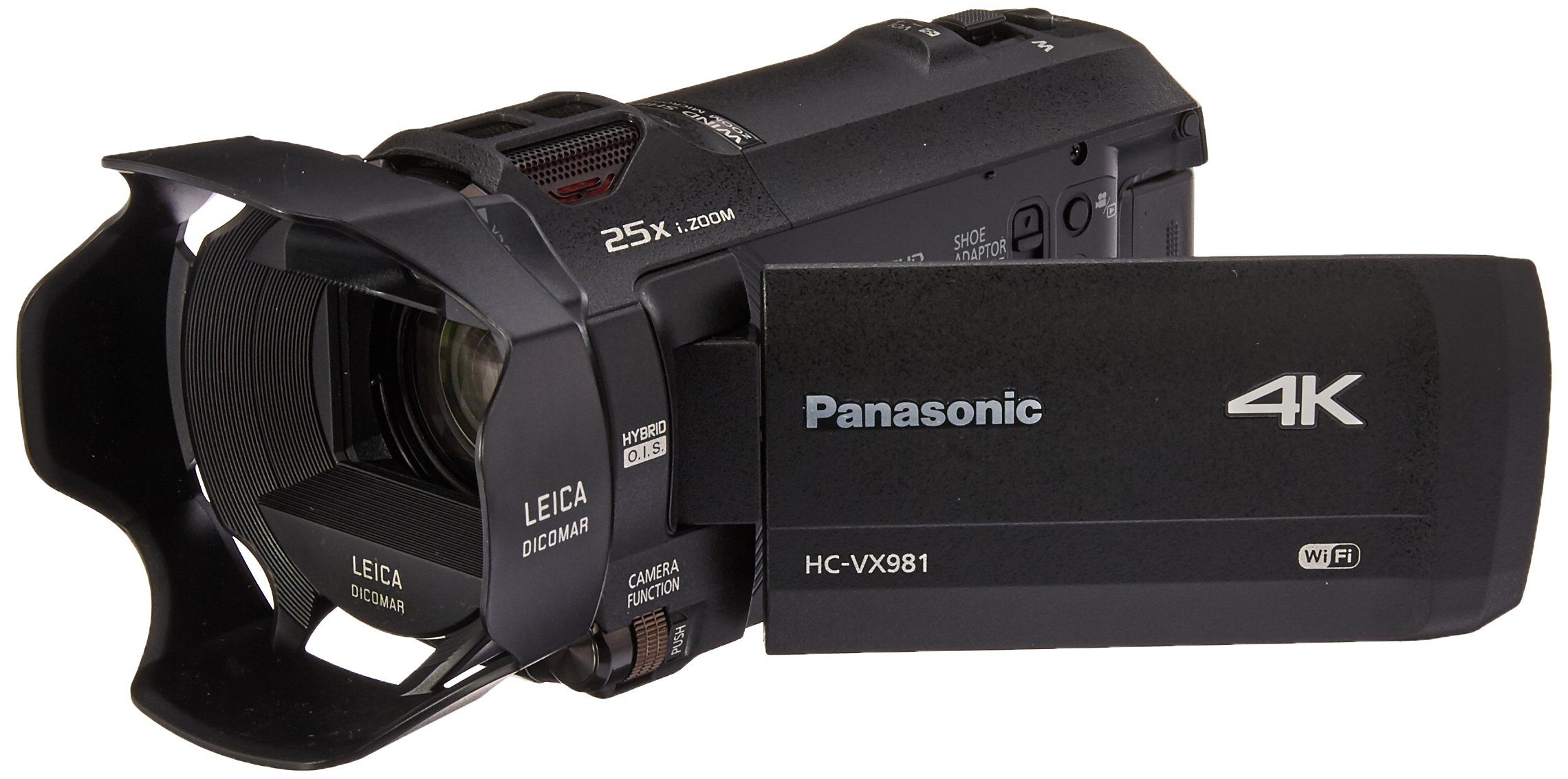 Panasonic 4K Ultra HD Video Camera Camcorder HC-VX981K, 20X Optical Zoom, 1/2.3-Inch BSI Sensor, HDR Capture, Wi-Fi…
