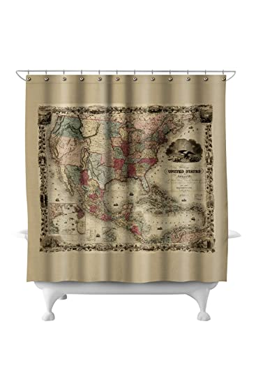 Map Of The United States 1850.Amazon Com Panoramic Map Of United States Of America 1850 71x74