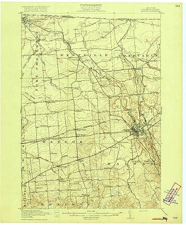 Amazon.com : YellowMaps Malone NY topo map, 1:62500 Scale, 15 X 15 ...