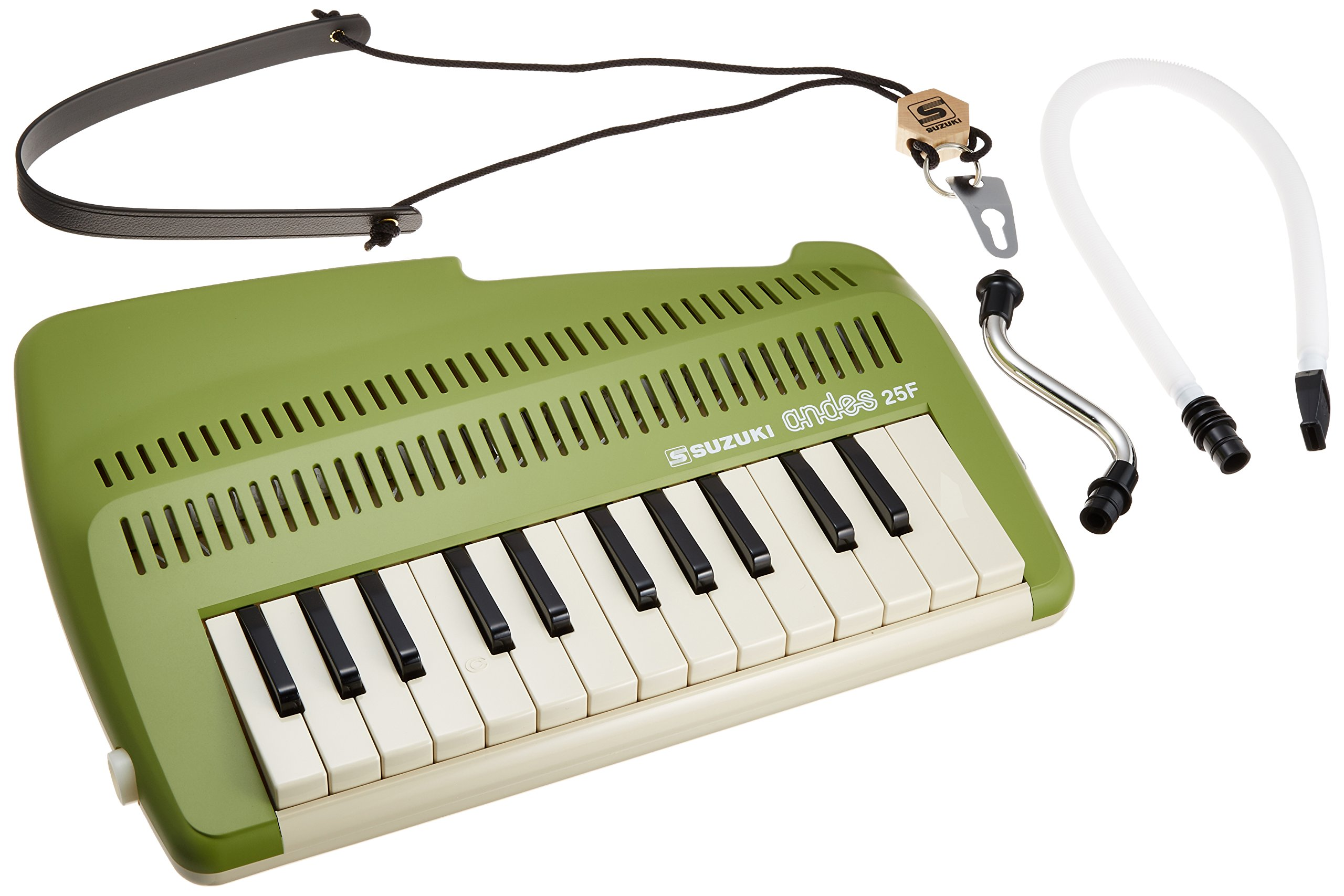 Suzuki A-25F 25-Key Andes Recorder-Keyboard with Mouthpiece and Strap by Suzuki