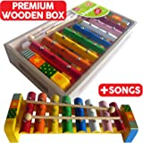Musical Xylophone with Music Sheet and 2 Beaters (New, boxed, minor paint/key imperfections)