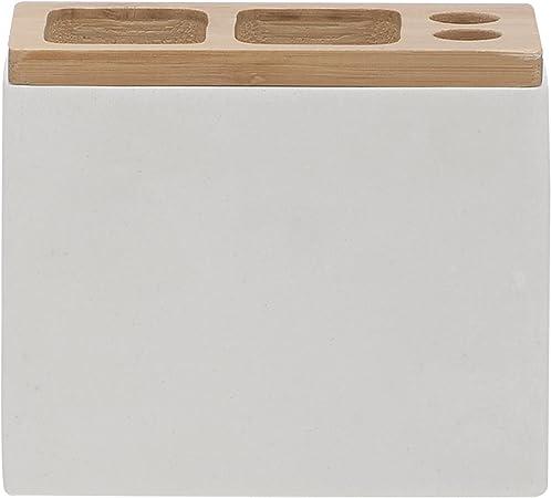 6 x 12.3 x 10.2 cm Bianco Sealskin Grace Portabicchiere per spazzolini Poliresina