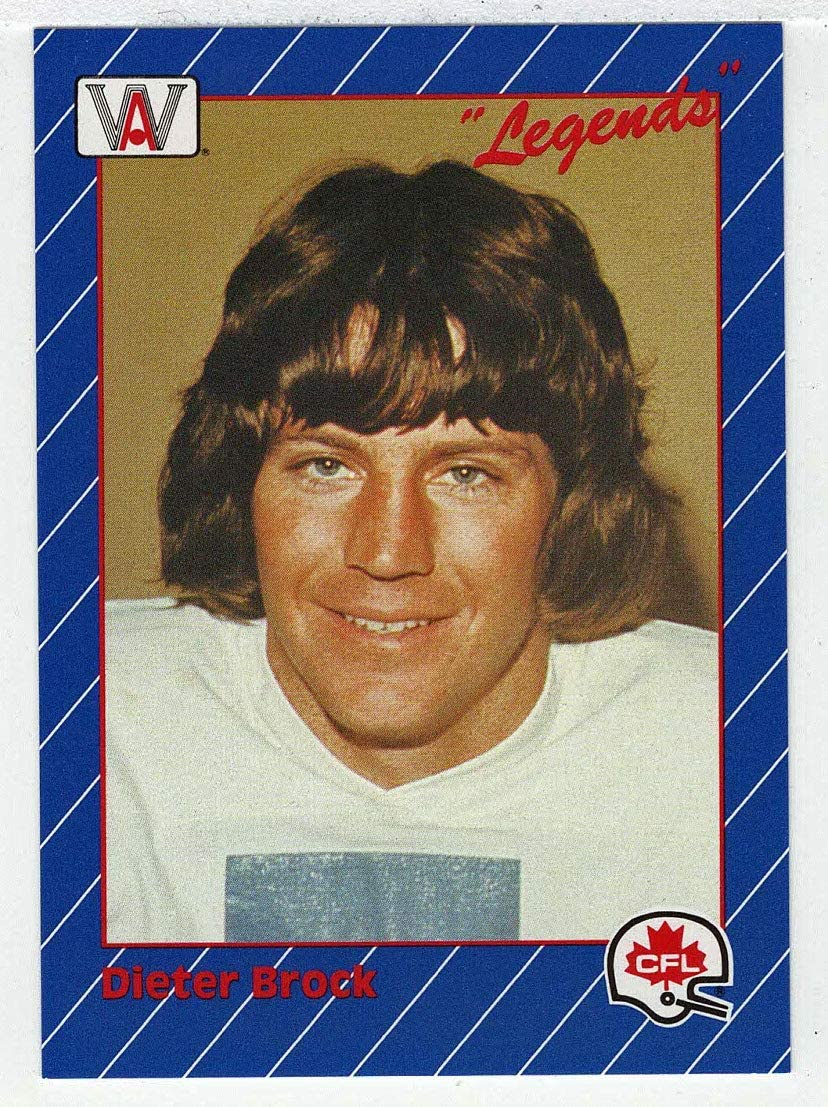 Dieter Brock Football Card 1991 All World CFL # 6 NM//MT