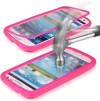 URCOVER® Carcasa TOUCH VIEW CASE Funda Completa | Samsung Galaxy S3 | Estuche Protección Pantalla + Antichoque en Fucsia | Cover Táctil Antigolpes: Amazon.es: Electrónica