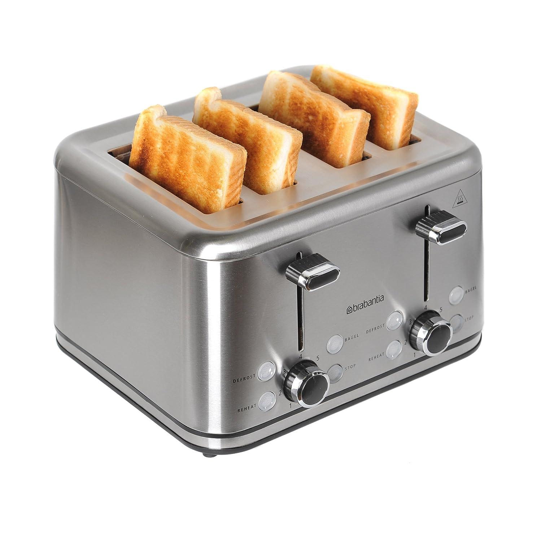 Brabantia BBEK1031 Four Slice Stainless Steel Toaster by Brabantia BQ1031