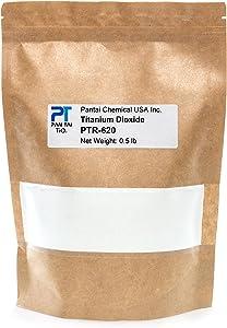 PTR-620 Titanium Dioxide TiO2   Soap Making, Crafts, Paints and Pigment Colorant   Resealable Pouch 16oz 8oz 4oz (0.5lb/8oz)