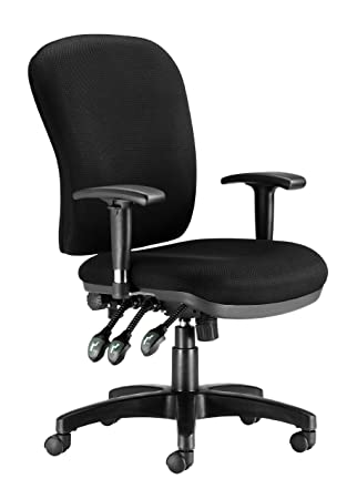 Chairs For fices BK Executive Heavy Duty Ergonomic Back Care fice Chair with Arms Black Free