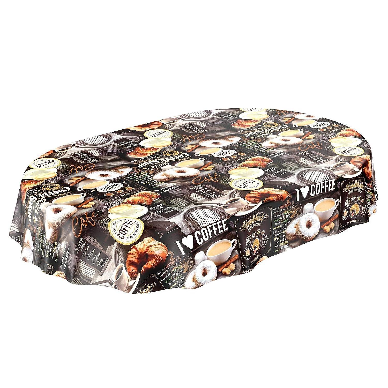 ANRO Tischdecke Wachstischdecke Wachstuch Wachstuchtischdecke Kaffee Coffee Donut 2000 x x x 140cm - 20M B01FFT62OI Tischdecken e190ba
