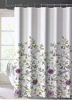 2219b4cc86a39 Amazon.com: Envogue Designer Shower Curtain Large Round Floral ...
